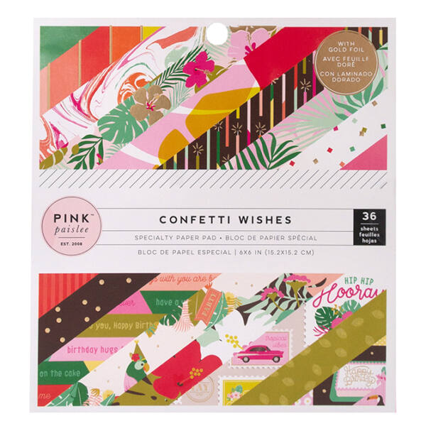 Pink Paislee - Confetti Wishes 6x6 Paper Pad