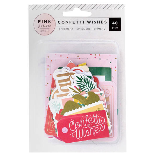 Pink Paislee - Confetti Wishes Die Cut