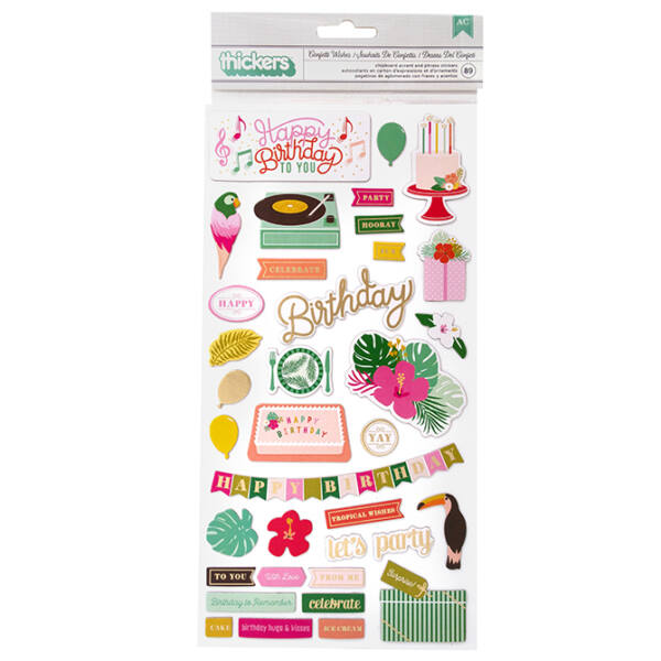 Pink Paislee - Confetti Wishes Chipboard