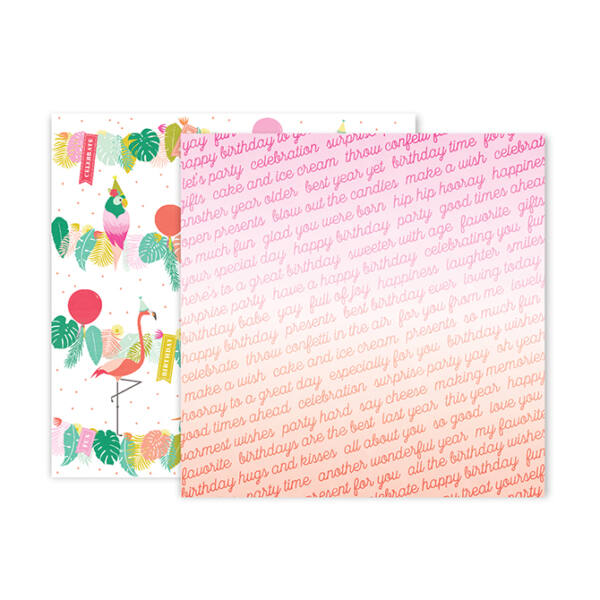 Pink Paislee - Confetti Wishes 12x12 Paper - 12