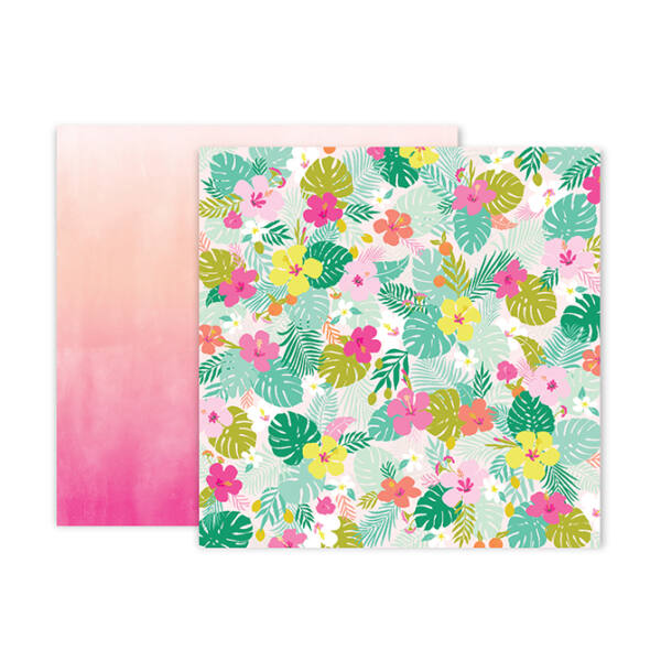 Pink Paislee - Confetti Wishes 12x12 Paper - 5