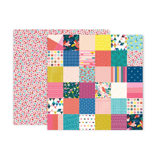 Pink Paislee - Paige Evans - Pick Me Up 12x12 Patterned Paper 10
