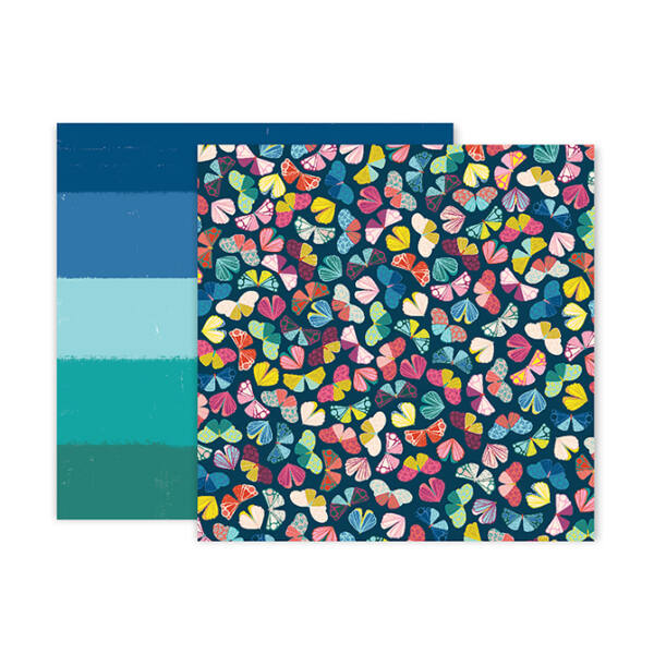 Pink Paislee - Paige Evans - Pick Me Up 12x12 Patterned Paper 14