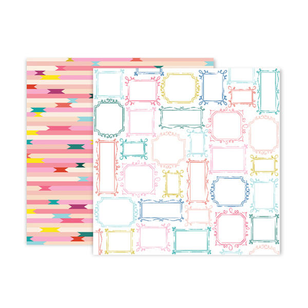 Pink Paislee - Paige Evans - Pick Me Up 12x12 Patterned Paper 19