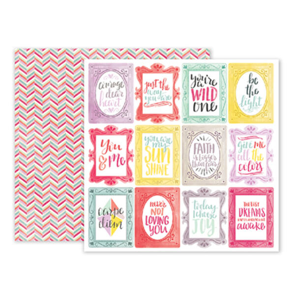 Pink Paislee - Paige Evans - Take Me Away 12 x 12 Double Sided Paper - 24