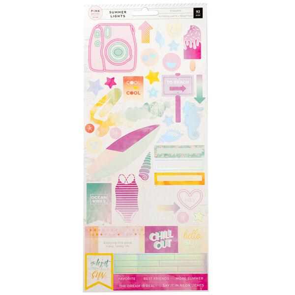 Pink Paislee - Summer Lights 6x12 Stickers
