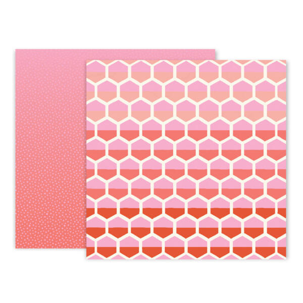 Pink Paislee - Paige Evans - Turn The Page 12x12 Paper - 08