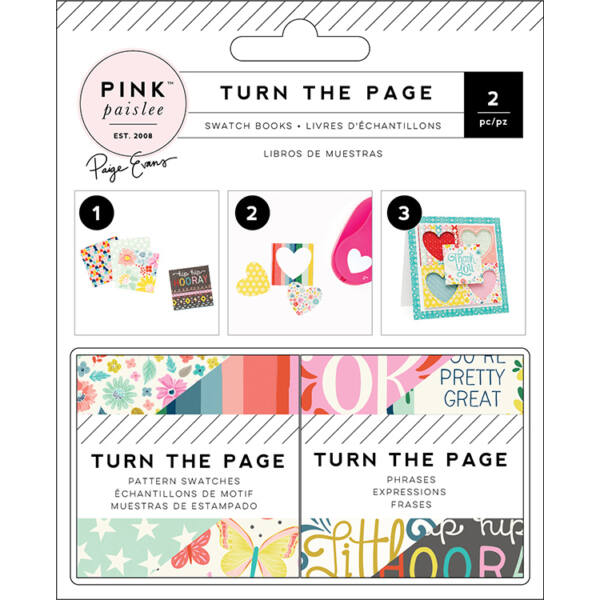 Pink Paislee - Paige Evans - Turn The Page 2x2 Paper Pad