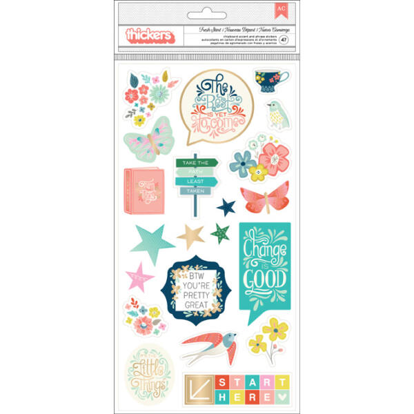 Pink Paislee - Paige Evans - Turn The Page Chipboard Thickers