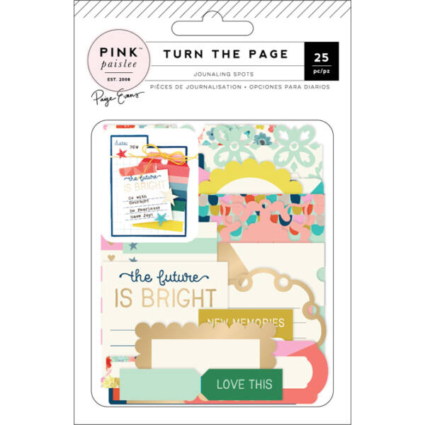Pink Paislee - Paige Evans - Turn The Page Journaling Spots