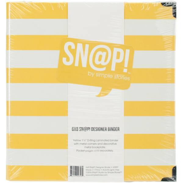 Simple Stories - SNAP Designer Binder - Yellow