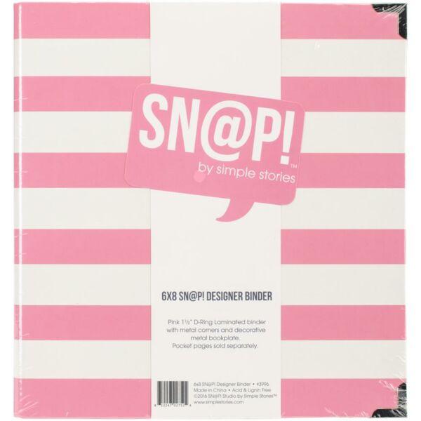 Simple Stories - SNAP 6 x 8 Designer Binder - Pink