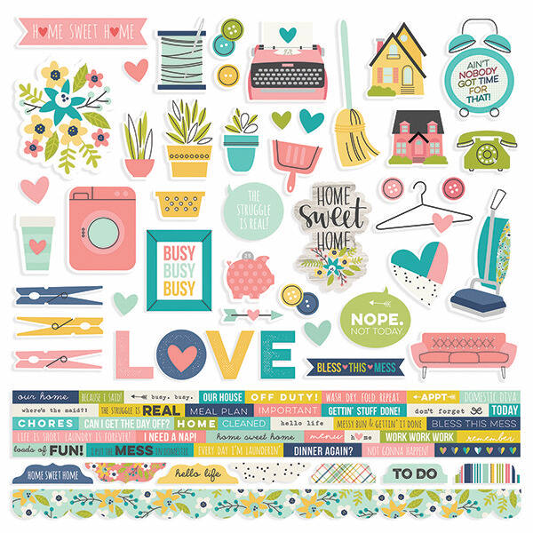 Simple Stories - Domestic Bliss 12 x 12 Stickers