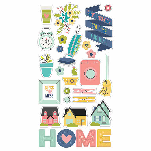 Simple Stories - Domestic Bliss 6 x 12 Chipboard