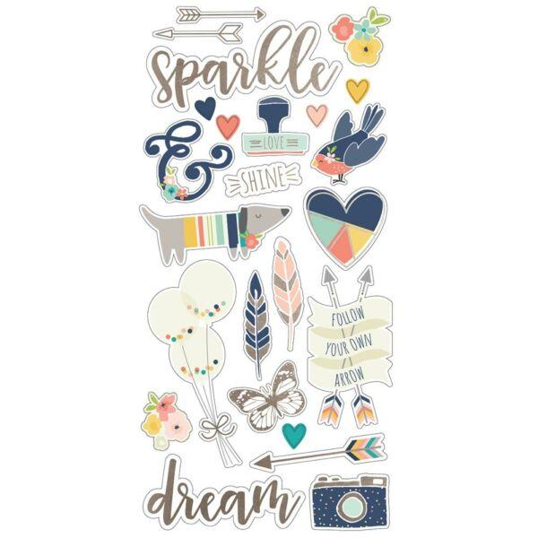 Simple Stories - Posh 6 x 12 Chipboard