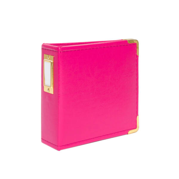 Studio Calico Handbooks 4 x 4 Faux Leather - Hot Pink