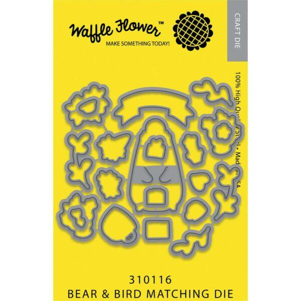 Waffle Flower Die - Bear & Bird