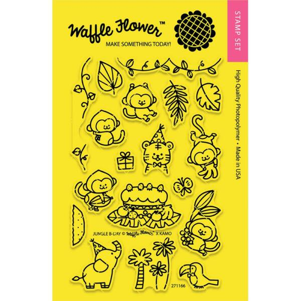 Waffle Flower Clear Stamp - Jungle Birthday