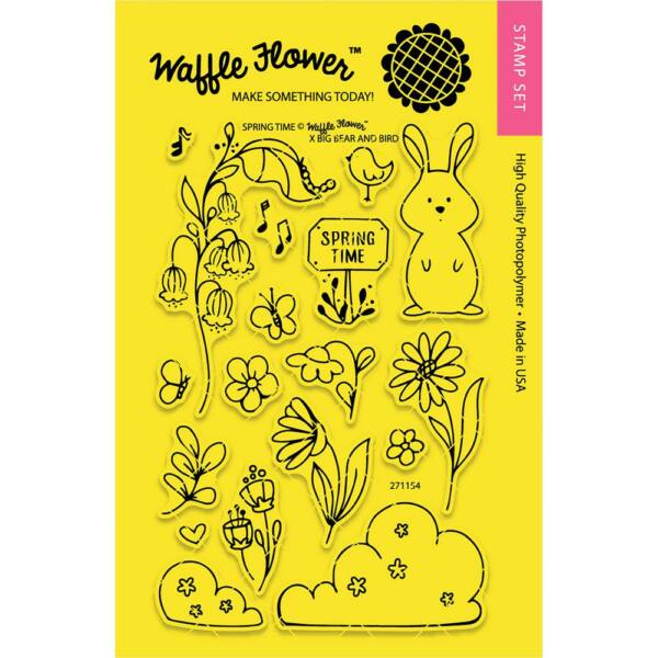 Waffle Flower Clear Stamp - Spring Time