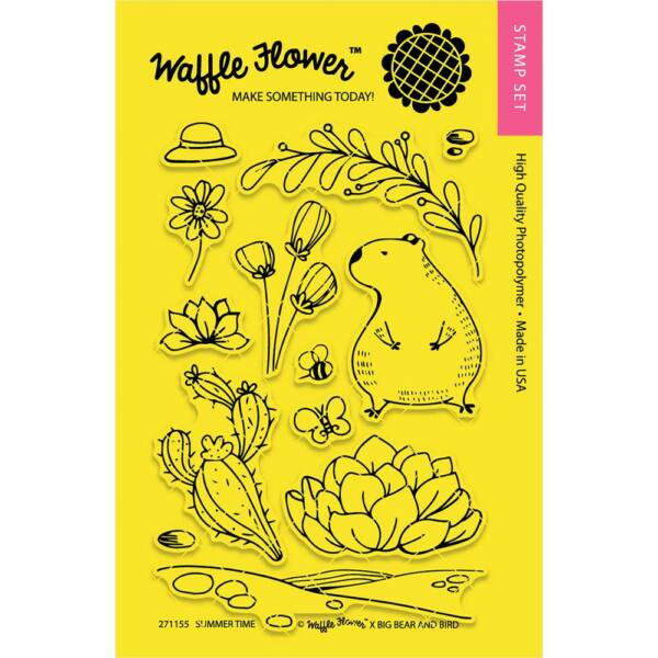 Waffle Flower Clear Stamp - Summer Time