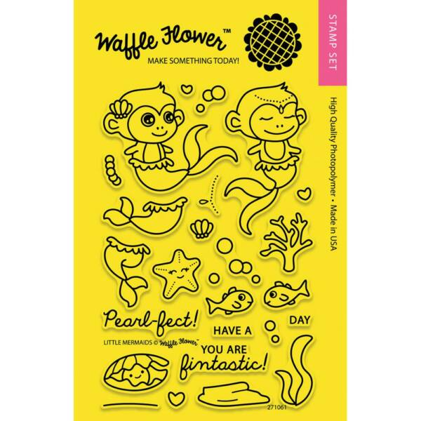 Waffle Flower Clear Stamp - Little Mermaids