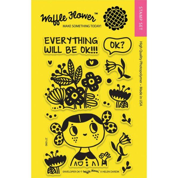 Waffle Flower Clear Stamp - Enveloper Ok