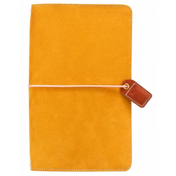 Webster's Pages Color Crush Traveler's Notebook Planner - Mustard Suede