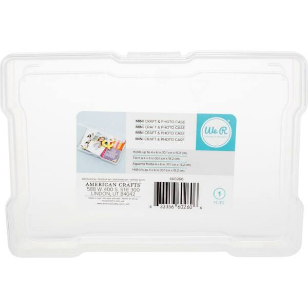 We R Memory Keepers Craft & Photo Translucent Plastic Storage 4x6