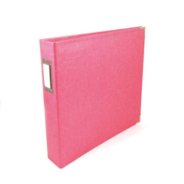 We R Memory Keepers 12x12 Classic Leather Album - Strawberry