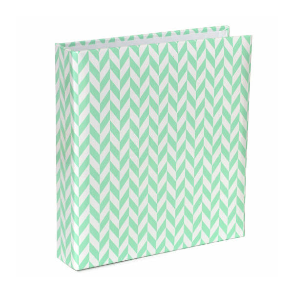 Becky Higgins - Project Life - 6 x 8 Album Blue Herringbone