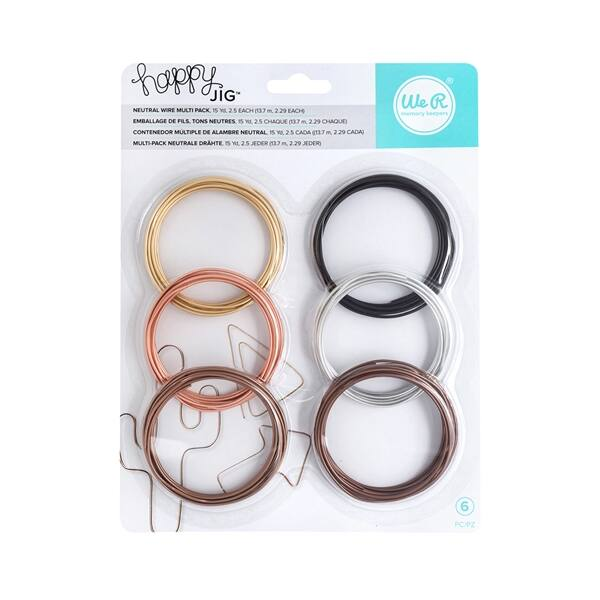 We R Memory Keepers Happy Jig Color Wire 6x5.5m - Neutral Pack