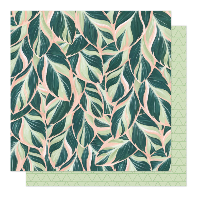 American Crafts - 1Canoe2 - Willow 12x12 Patterned Paper - Lush