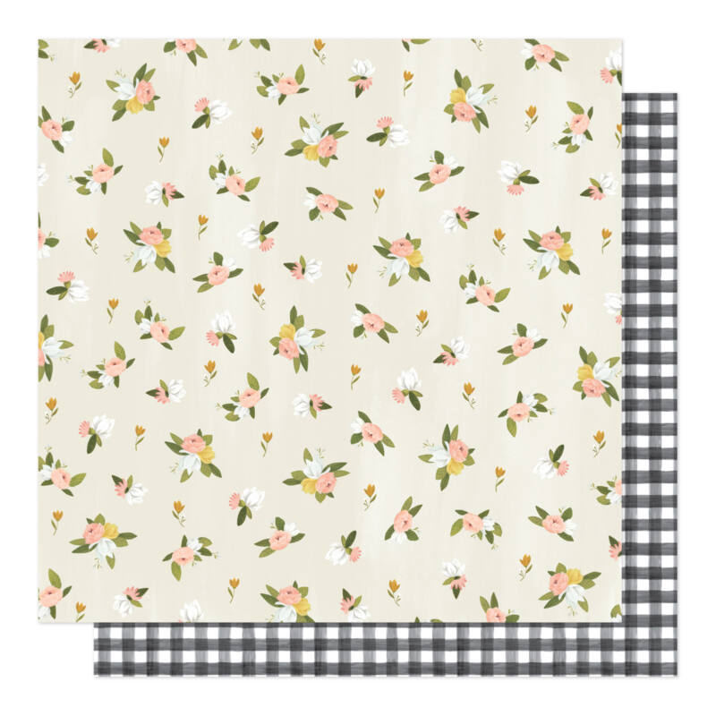 American Crafts - 1Canoe2 - Willow 12x12 Patterned Paper - Posies