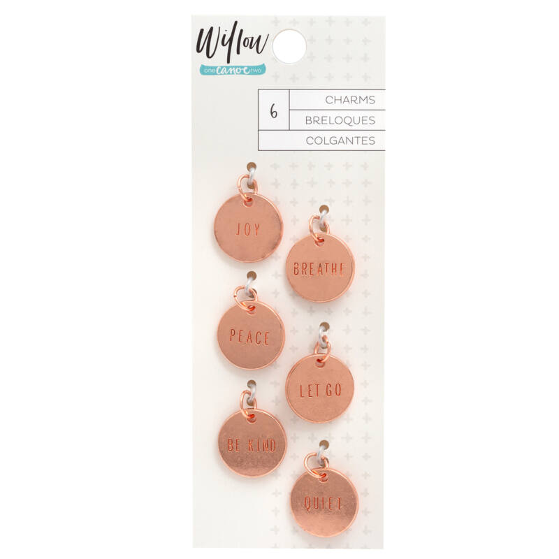 American Crafts - 1Canoe2 - Willow Stamped Metal Charms (6 Piece)