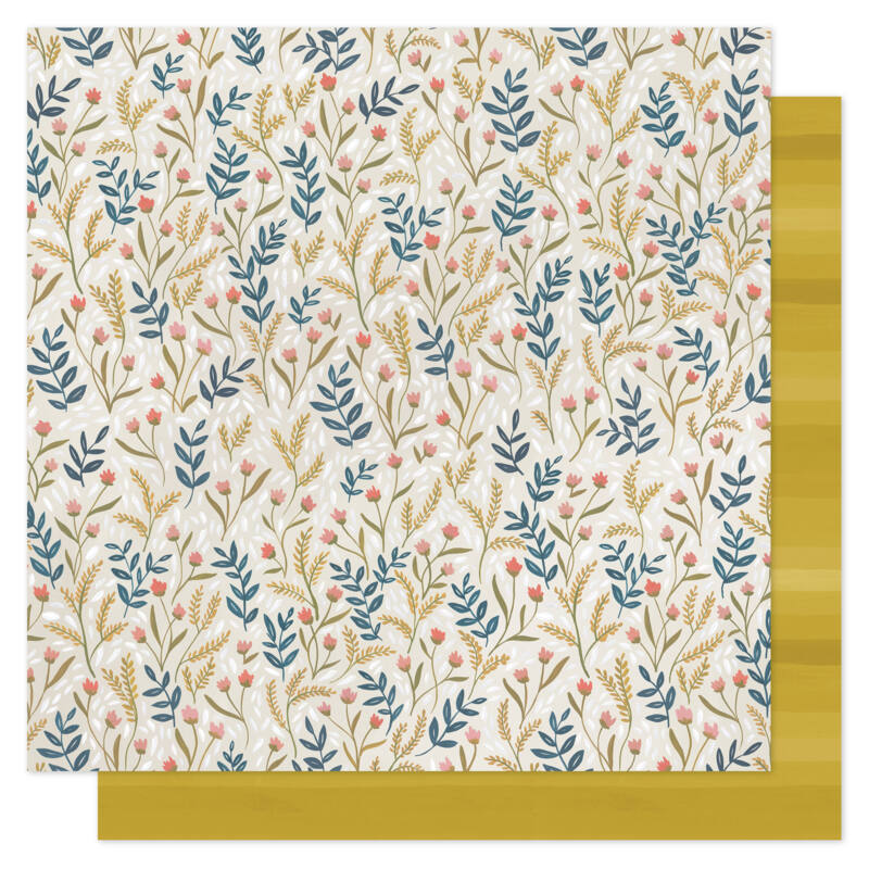 1Canoe2 - Goldenrod 12x12 scrapbook papír -  Meadow Floral