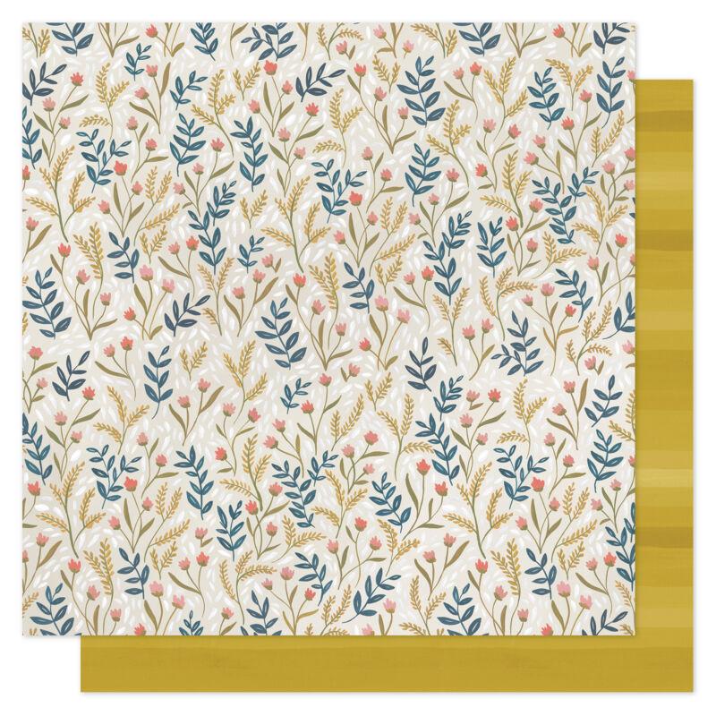 1Canoe2 - Goldenrod 12x12 scrapbooking papir -  Meadow Floral