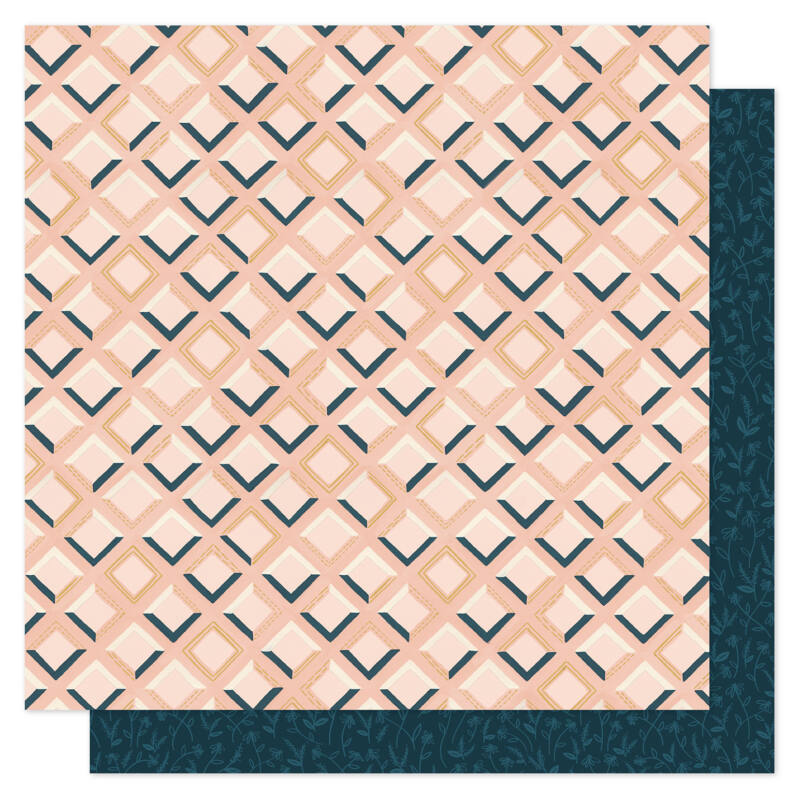 1Canoe2 - Goldenrod 12x12 Patterned Paper -  Pink Tile