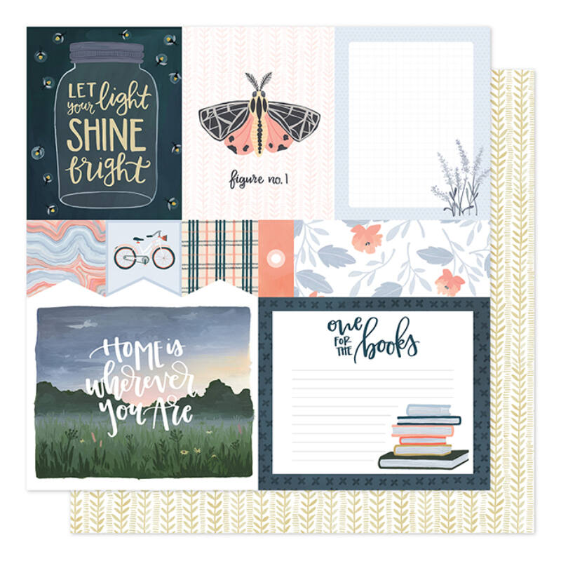 1Canoe2 - Twilight 12x12 Patterned Paper - Field Notes