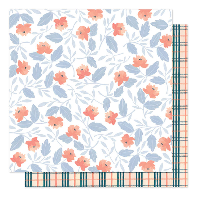 1Canoe2 - Twilight 12x12 Patterned Paper -  Twilight Blooms