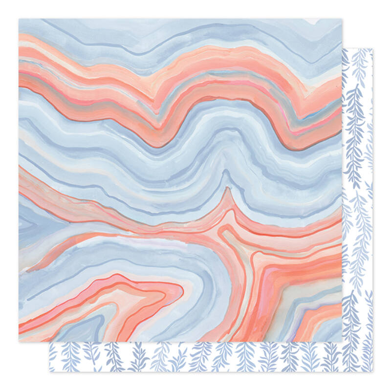 1Canoe2 - Twilight 12x12 Patterned Paper -  Twilight Marble