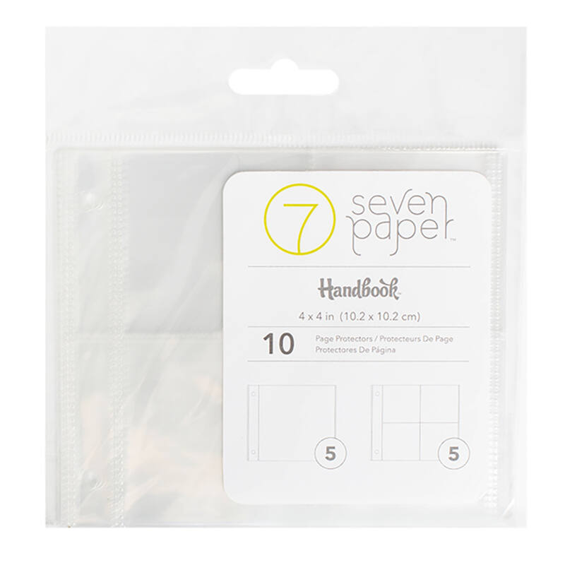 American Crafts 4x4 Insta Page Protectors - Multi Pack (10 Pieces)
