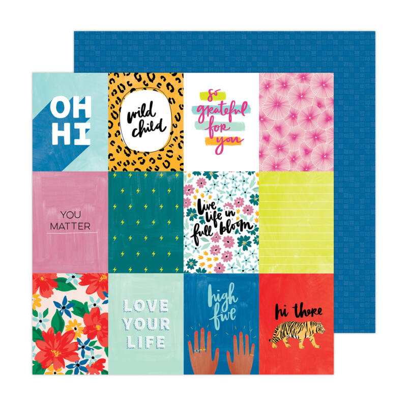 American Crafts - Amy Tangerine - Brave and Bold 12x12 Paper - High Five
