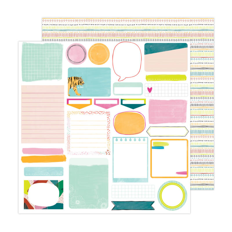 American Crafts - Amy Tangerine - Brave and Bold 12x12 Paper - Take Note