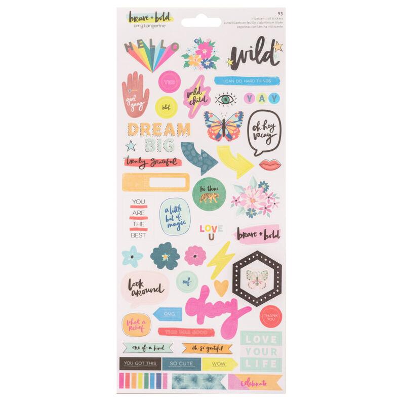 American Crafts - Amy Tangerine - Brave and Bold 6x12 Sticker (93 Piece)