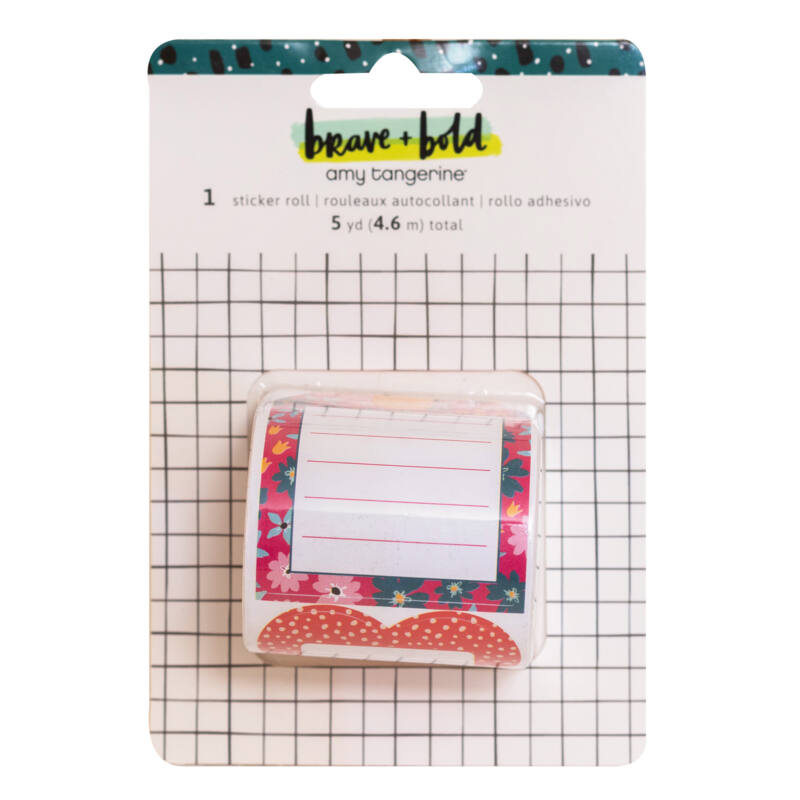 American Crafts - Amy Tangerine - Brave and Bold Sticker Roll