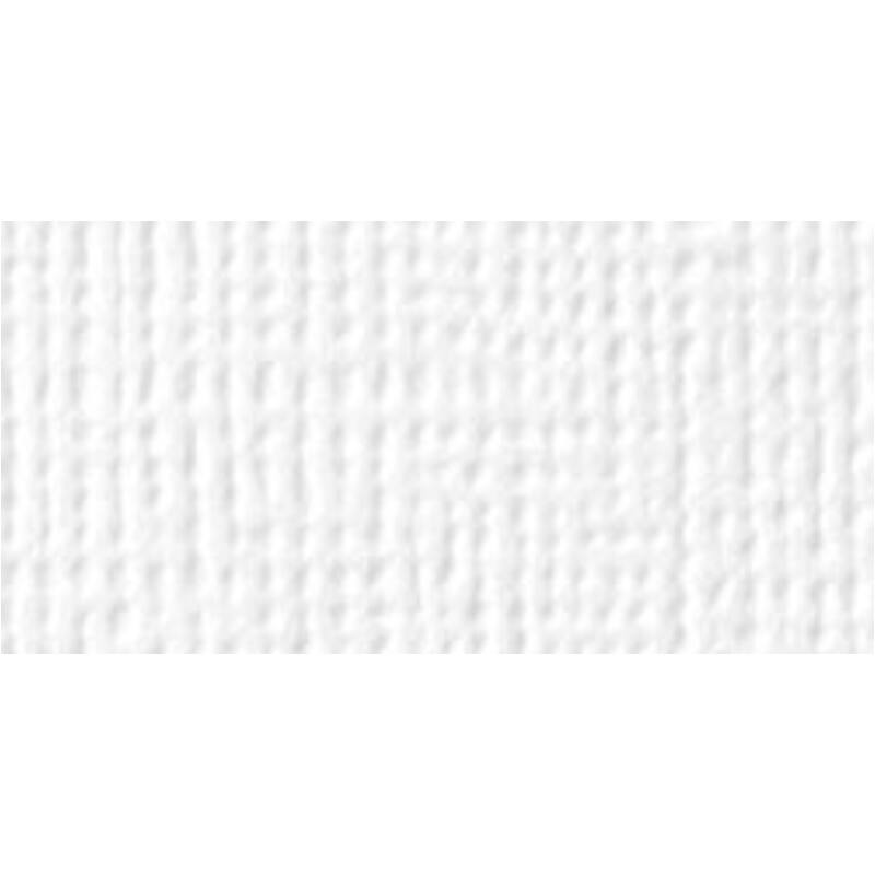 American Crafts 12x12 Textured Cardstock -White
