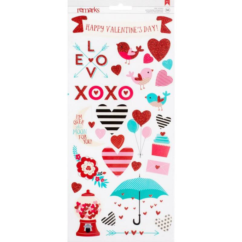 American Crafts Valentine 6 x 12 Stickers