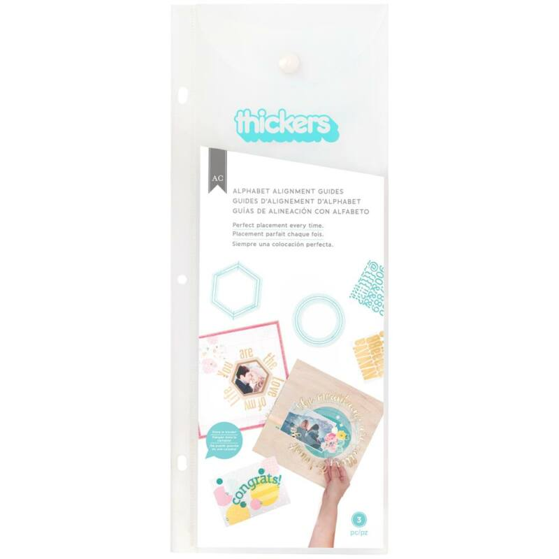 American Crafts - Thickers Alignment Guides - Circle