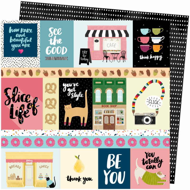 American Crafts - Amy Tangerine - Slice of Life 12x12 Paper - We Click