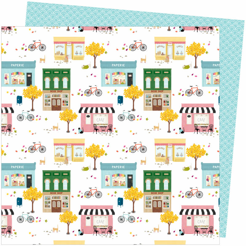 American Crafts - Amy Tangerine - Slice of Life 12x12 Paper - My Town
